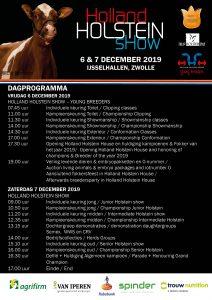 Dagprogramma Holland Holstein sHow 2019